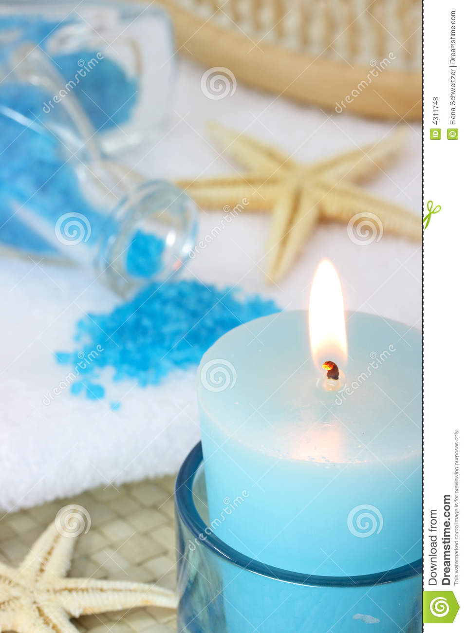 Blue spa stock photo Image of bathe white aromatherapy  4311748