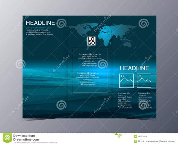 Blue Technology Geometric Graphic Style Brochure Template