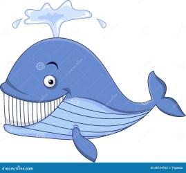 Blue Whale Cartoon Illustration 28724552 Megapixl