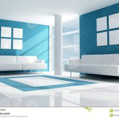 White Modern Living Room North Facing Small Decorating Ideas Blue And Stock Illustration
