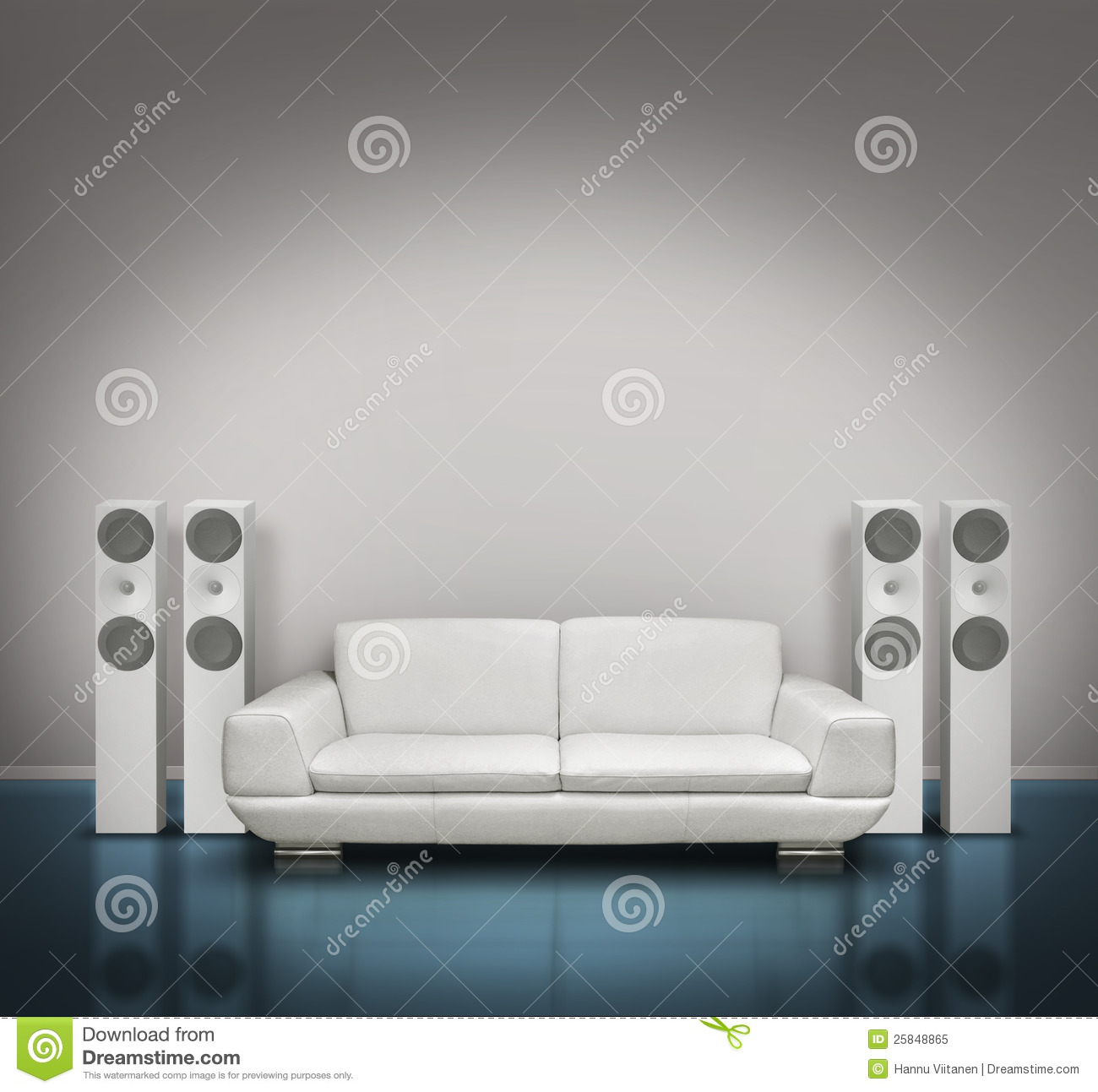 Blue And White Music Room Royalty Free Stock Photo  Image
