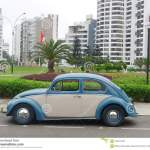 Blue And White Volkswagen Beetle 1300 In Lima Editorial Image Image Of Obsolete Exterior 105473430