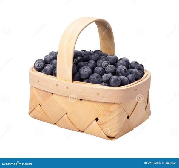 blueberry basket isolated white