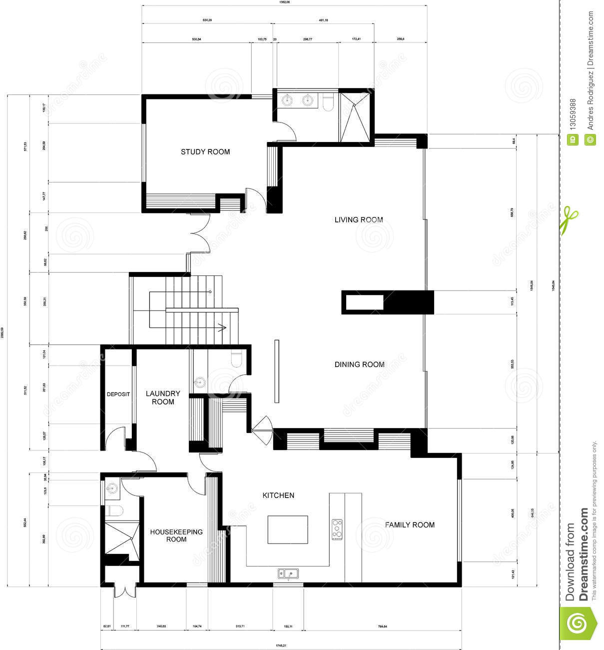 Blueprint Of An Appartment Stock Illustration