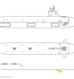 blueprint of submarine military ship top front and side view battleship model [ 1300 x 740 Pixel ]