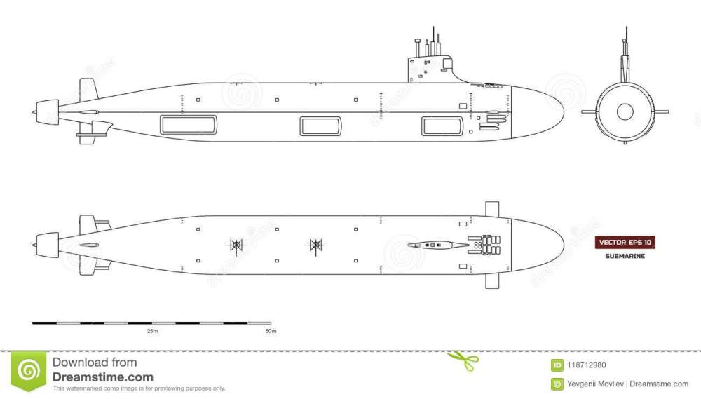 medium resolution of blueprint of submarine military ship top front and side view battleship model