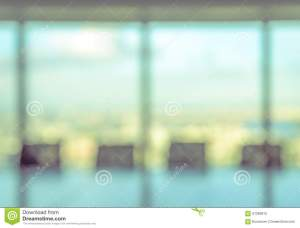 blurred conference blur window boardroom empty office concept