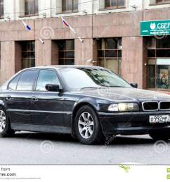 moscow russia june 2 2013 motor car bmw e38 7 series at the city street  [ 1300 x 957 Pixel ]