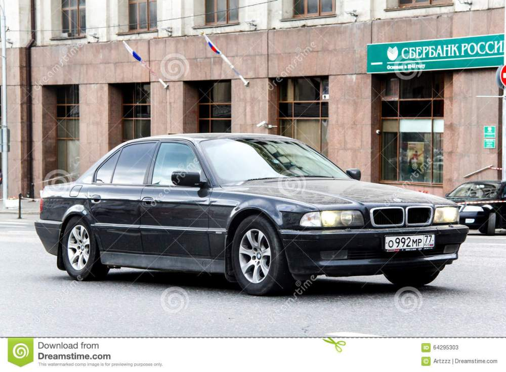 medium resolution of moscow russia june 2 2013 motor car bmw e38 7 series at the city street