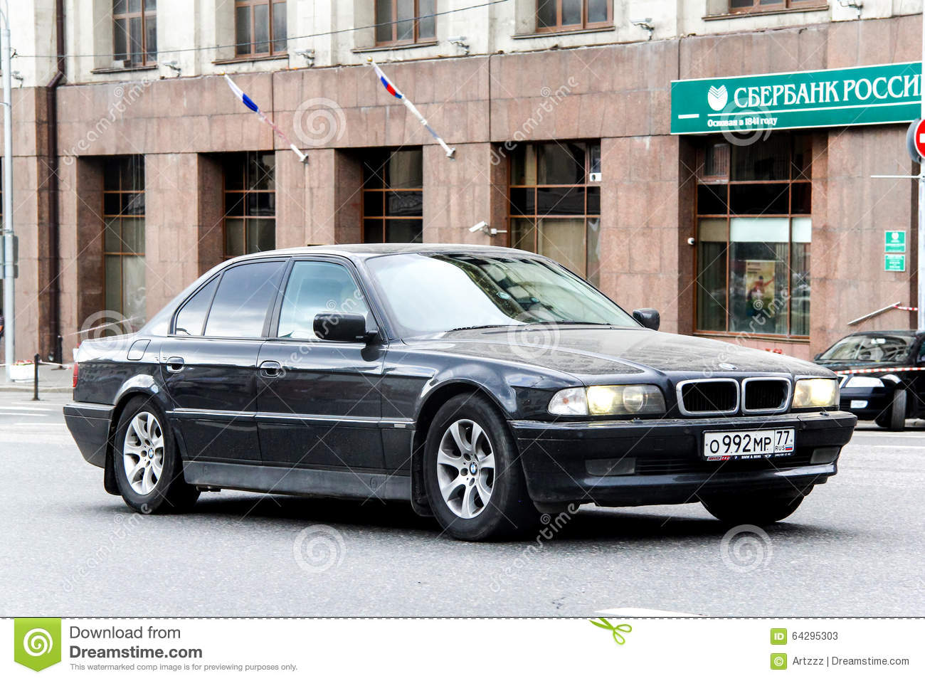 hight resolution of moscow russia june 2 2013 motor car bmw e38 7 series at the city street
