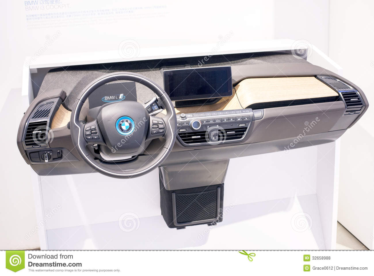 The Bmw I3 Electric Car Instrument Panel Editorial Stock
