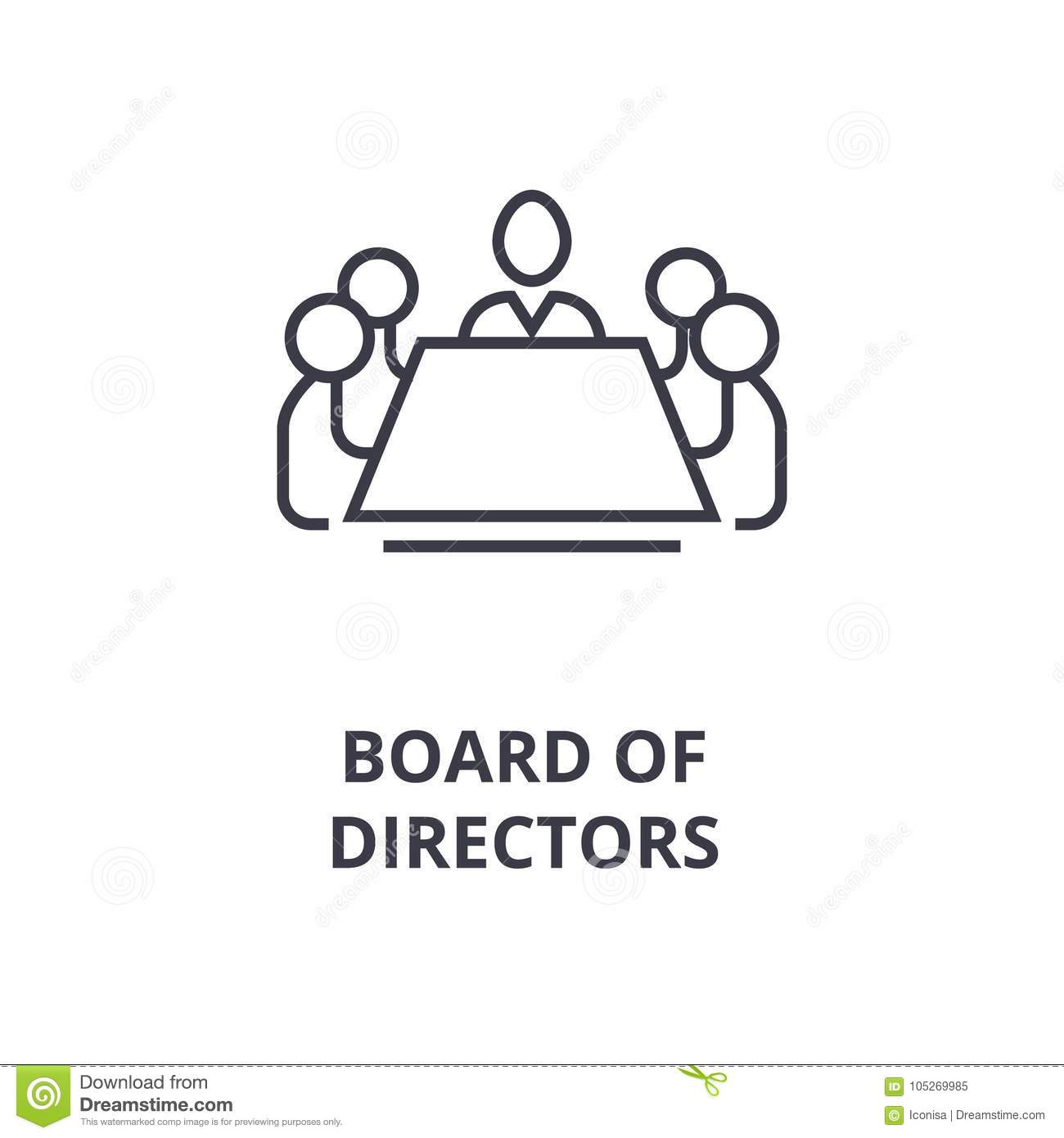Board Of Directors Line Icon Outline Sign Linear Symbol