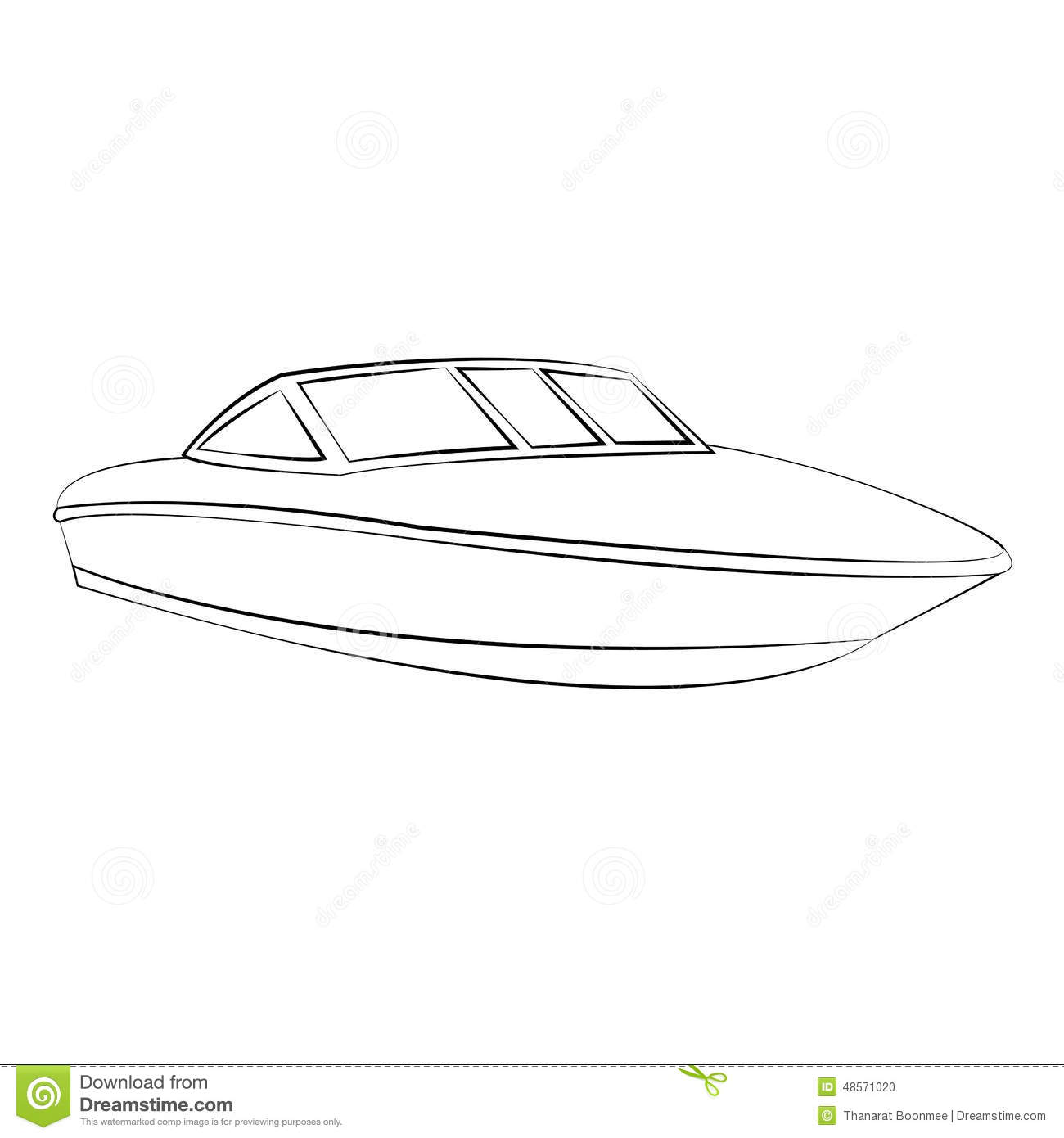 Boat Stock Vector Illustration Of Illustration Black