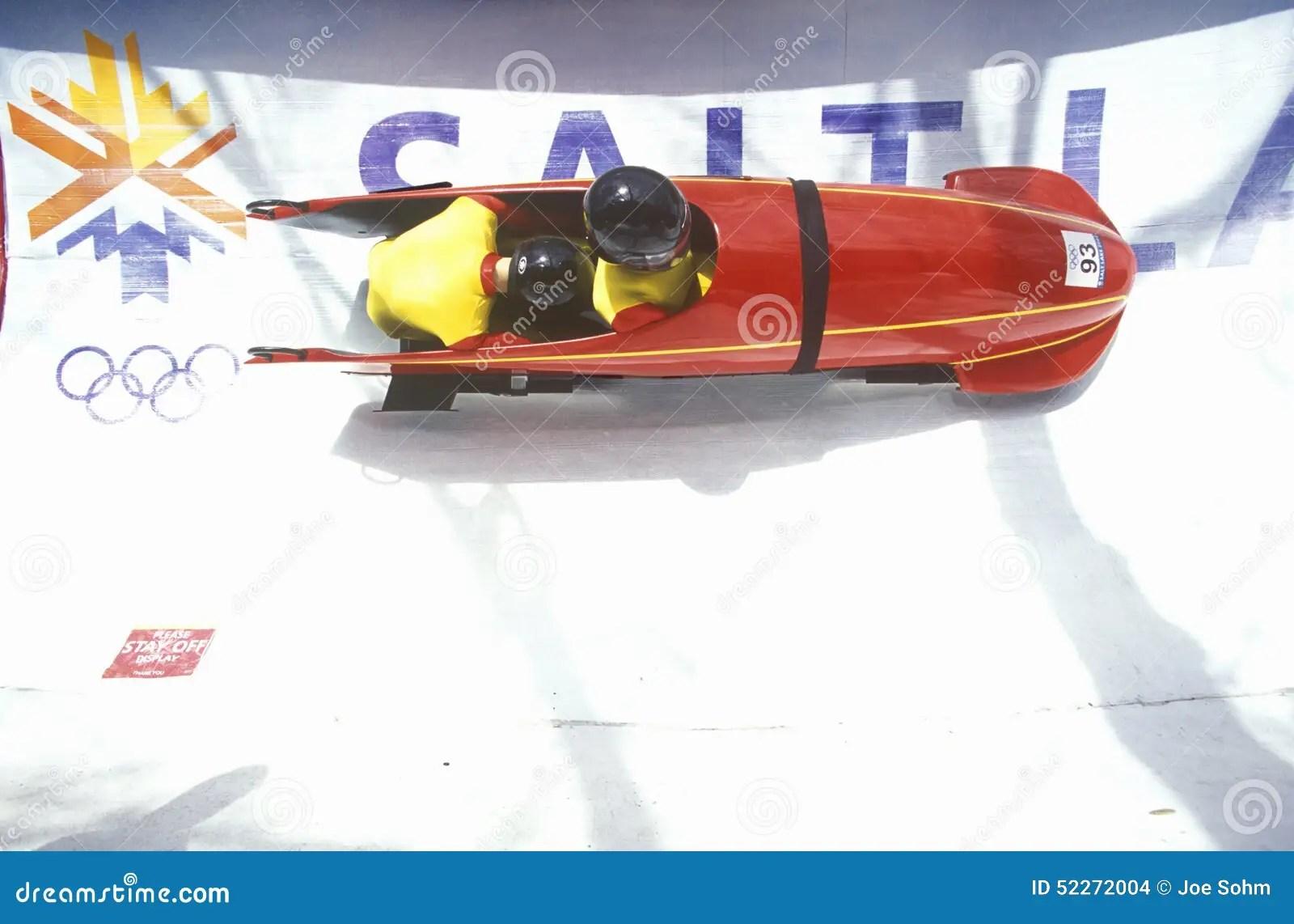 Bobsled Exhibit At Winter Olympics Salt Lake City