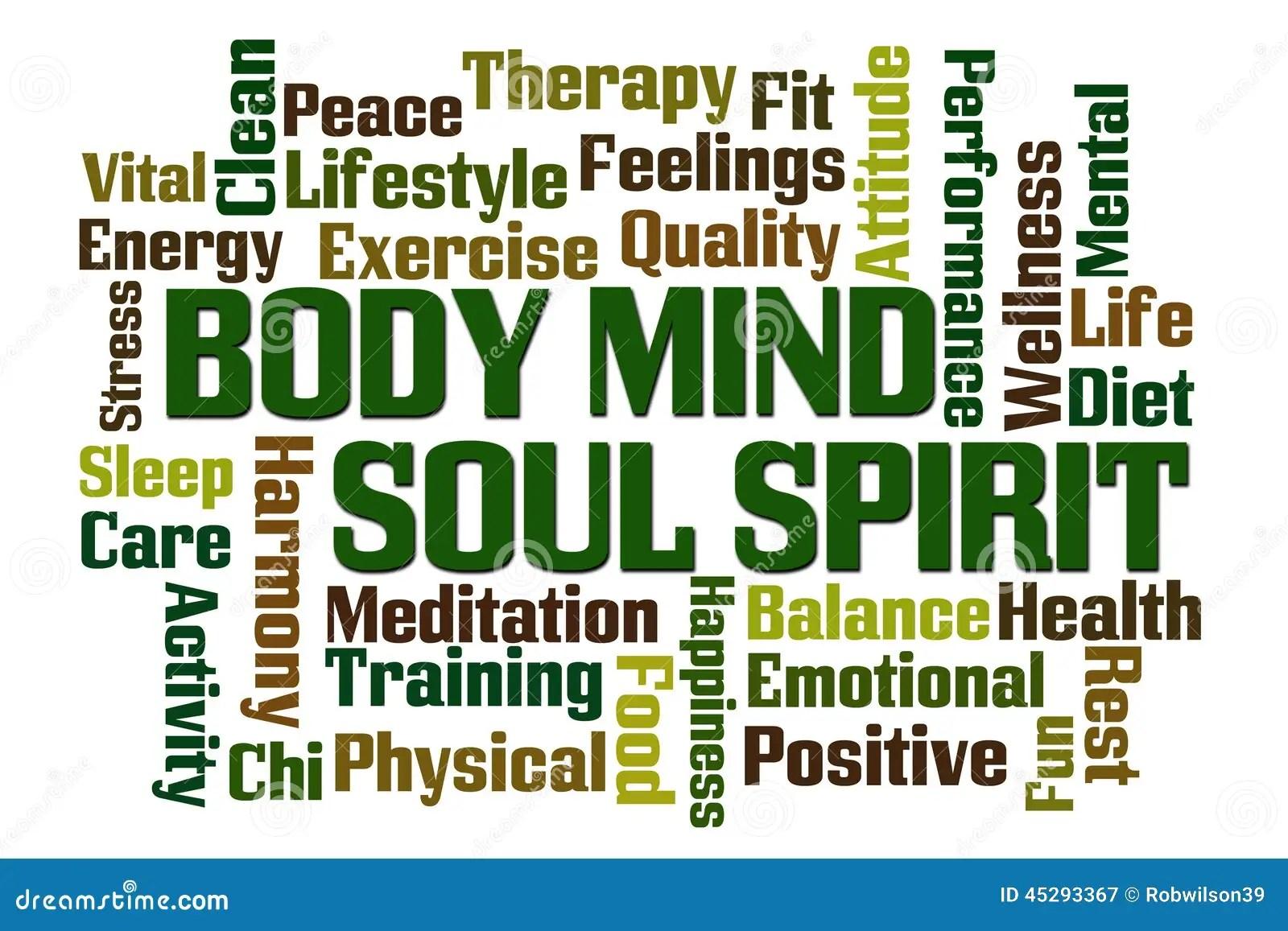 Body Mind Soul Spirit Stock Illustration Image Of Rest