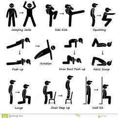 Chair Positions In A Fraternity Chairs For Elderly Riser Recliner Body Workout Exercise Fitness Training Set 1 Clipart