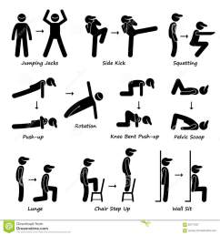 body workout exercise fitness training set 1 clipart [ 1300 x 1390 Pixel ]