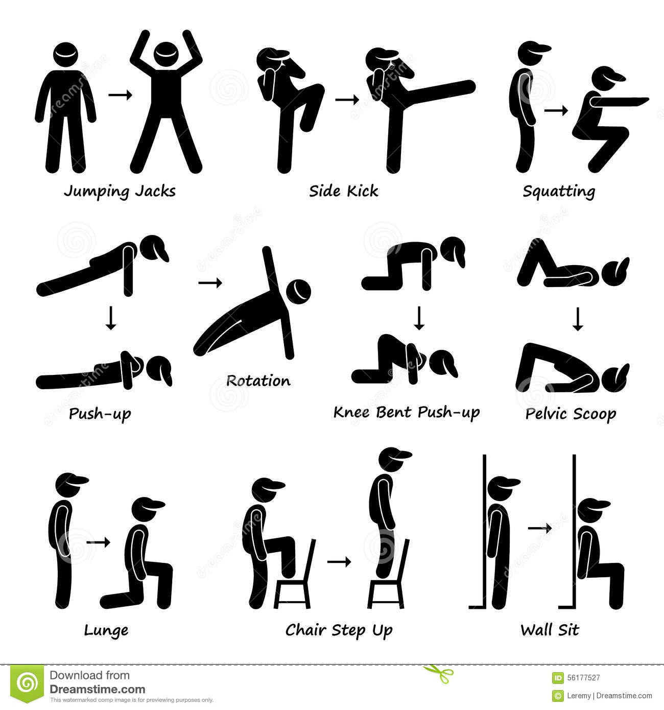 hight resolution of body workout exercise fitness training set 1 clipart