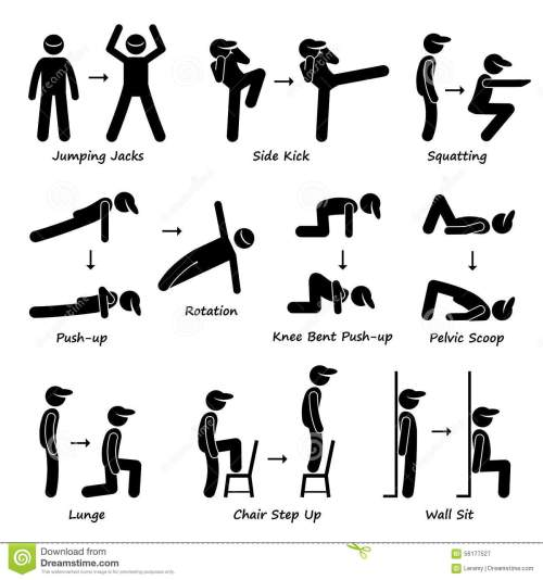 small resolution of body workout exercise fitness training set 1 clipart