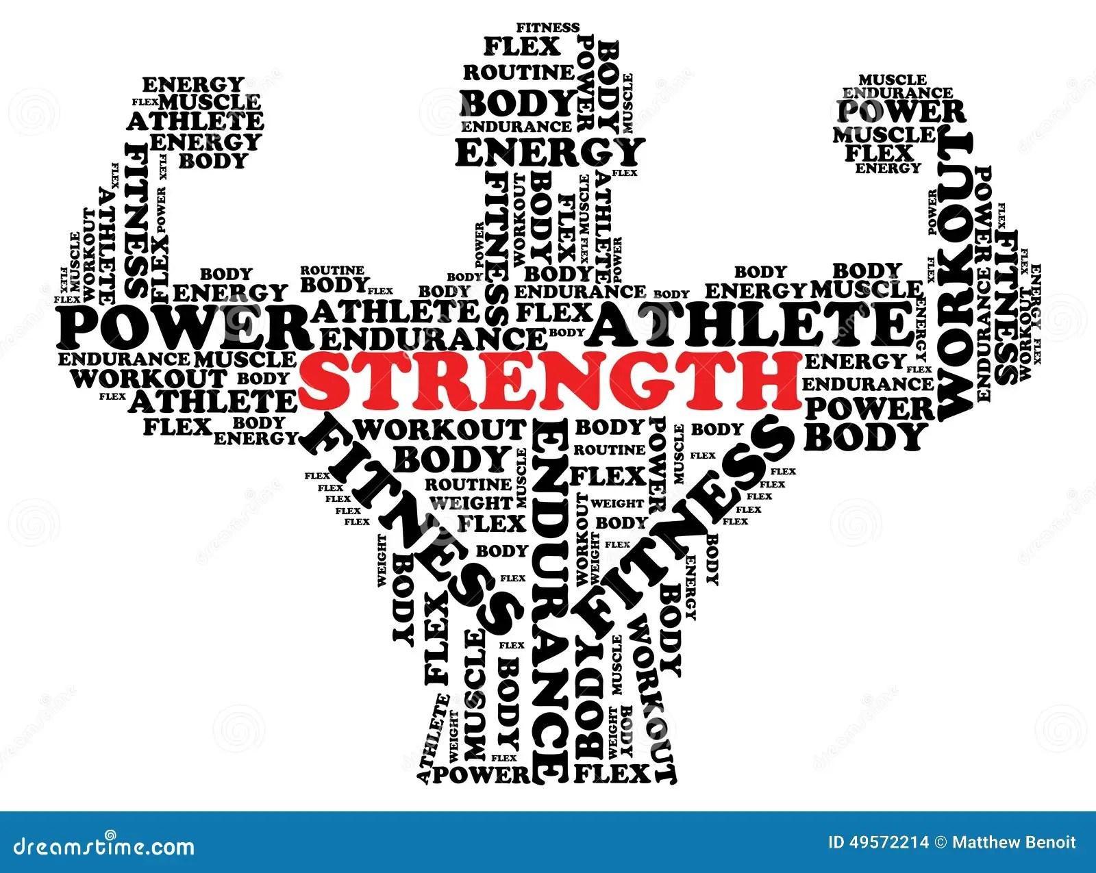 Bodybuilder Font Design Stock Illustration