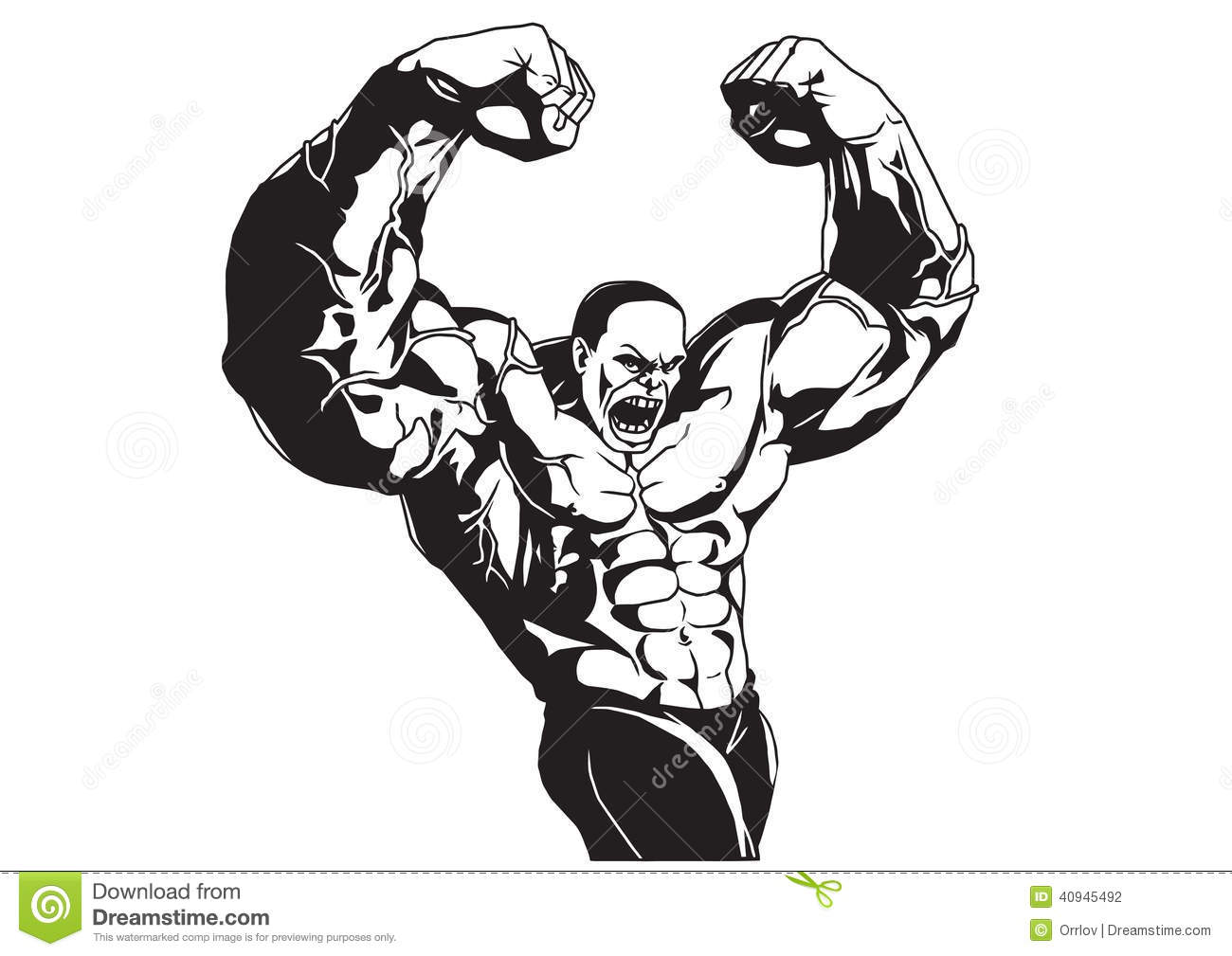 Bodybuilder Poses Stock Vector Illustration Of Isolated