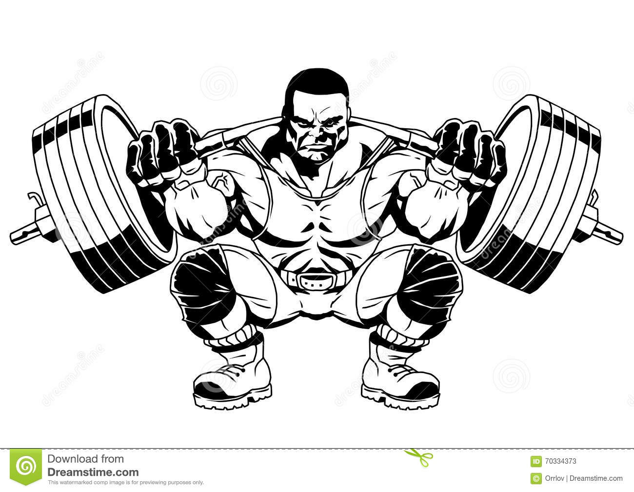 Bodybuilder Sports Stock Vector Illustration Of White