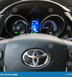 bologna italy 17 sep 2018 a toyota auris steering wheel controls and car dashboard [ 1600 x 1290 Pixel ]