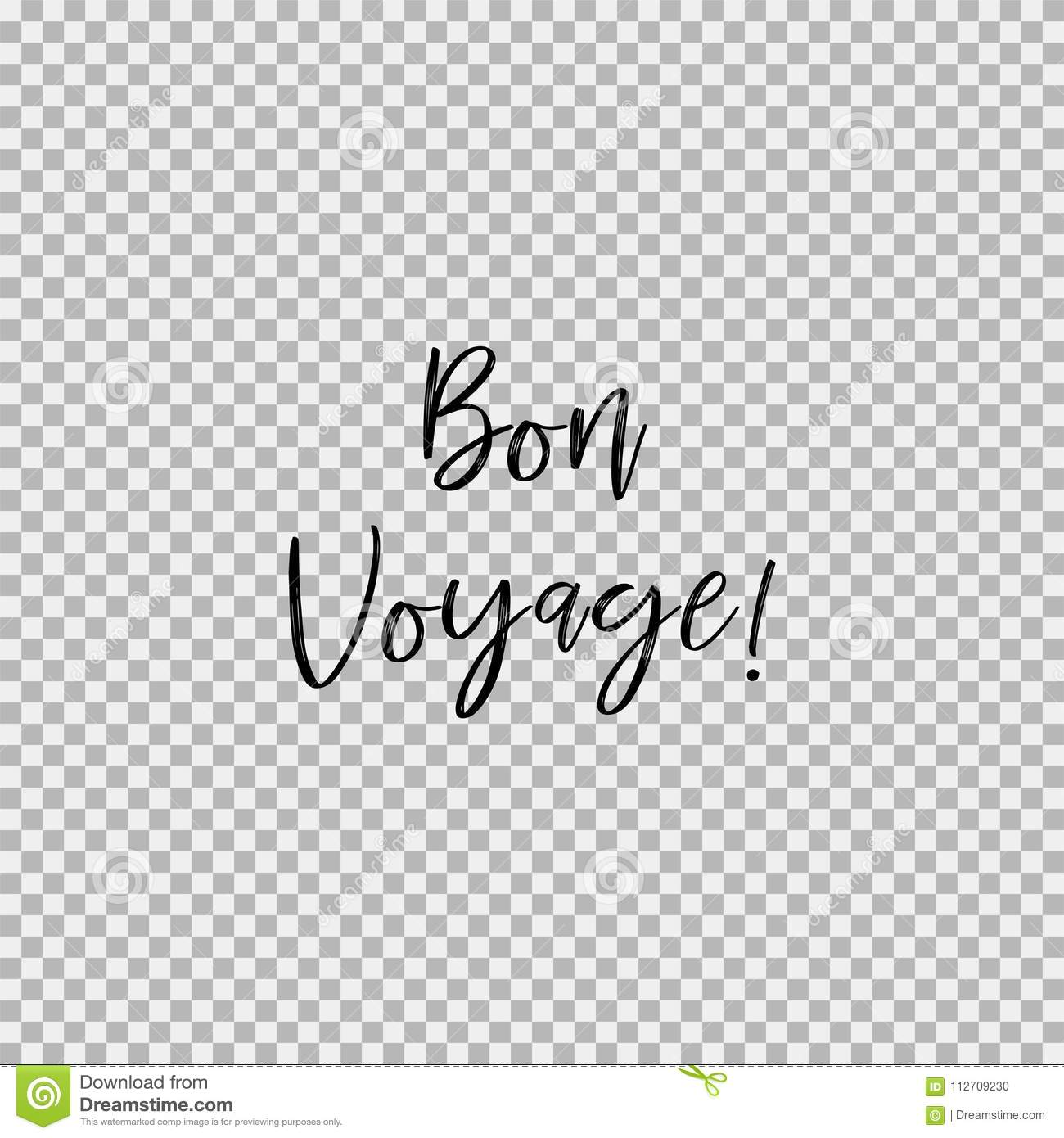 Bon Voyage Transparent Background Stock Vector Illustration Of Vintage Holiday 112709230