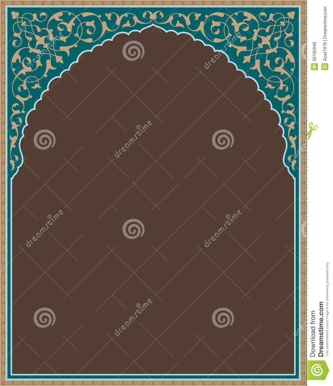 Bonab Arabic Frame Three Royalty Free Stock Image Image