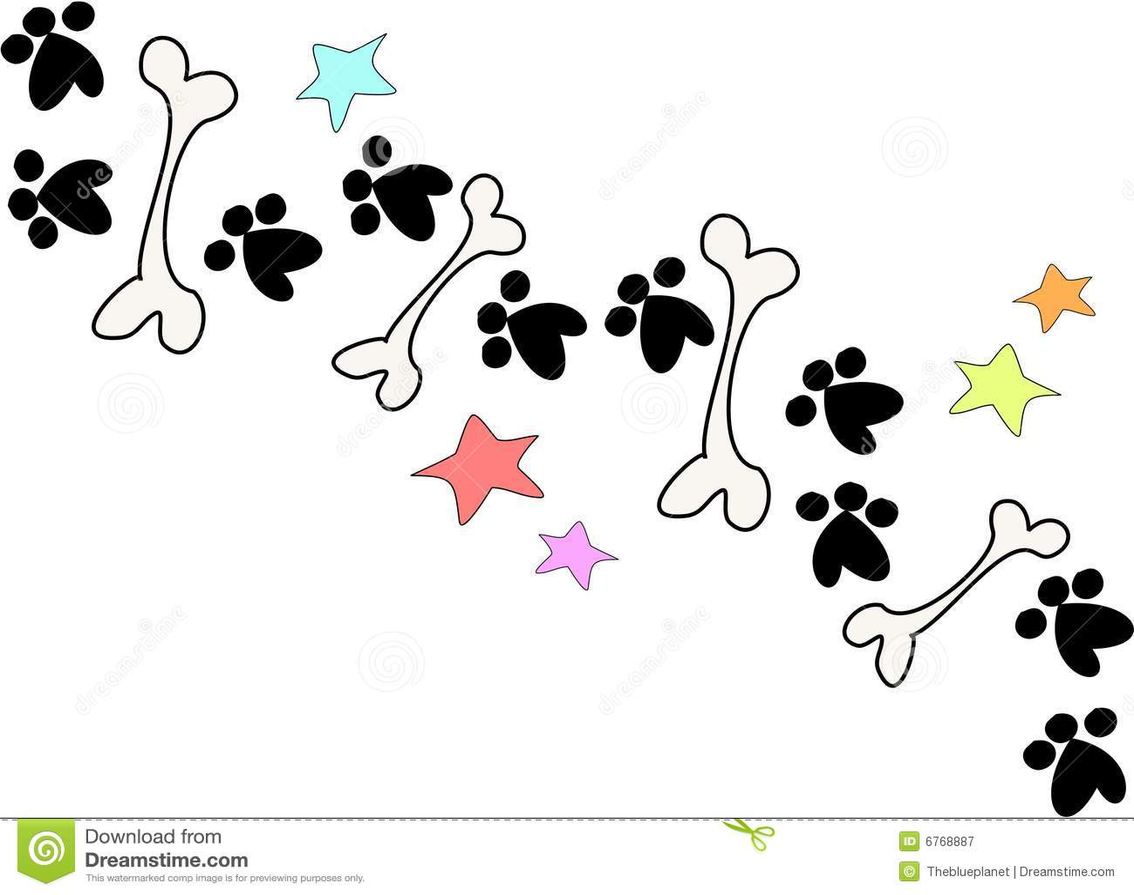 Bones And Paws Stock Illustration Illustration Of Line