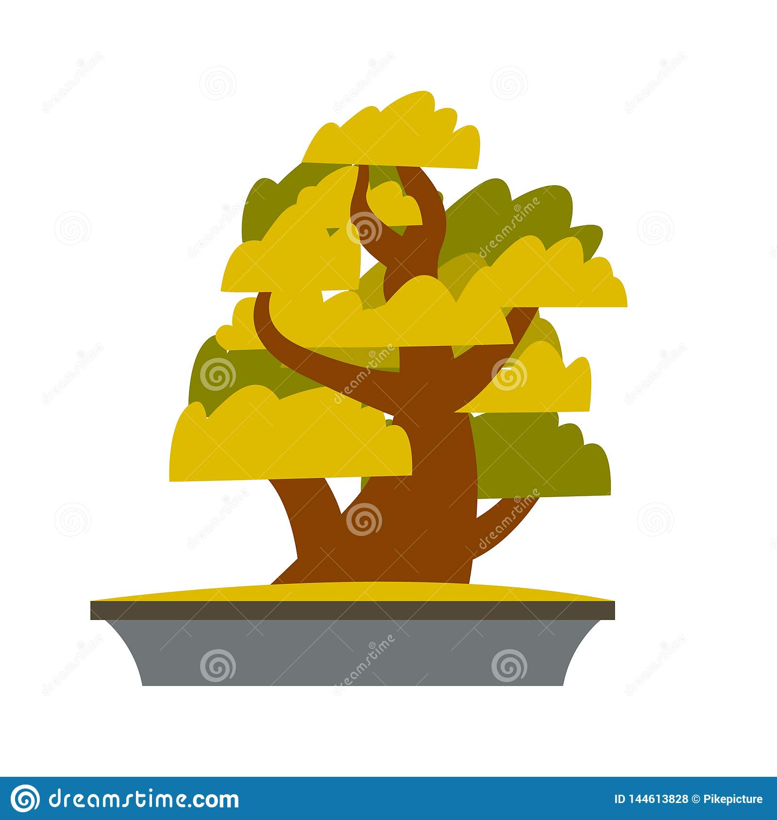 hight resolution of bonsai japanese cartoon vector tree growing in pot bonsai isolated clipart asian plants cultivation technique greenery gardening