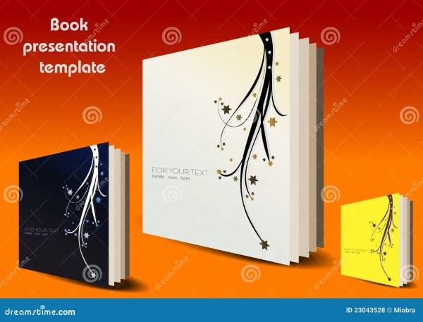 Book Presentation Template Stock Vector. Illustration Of