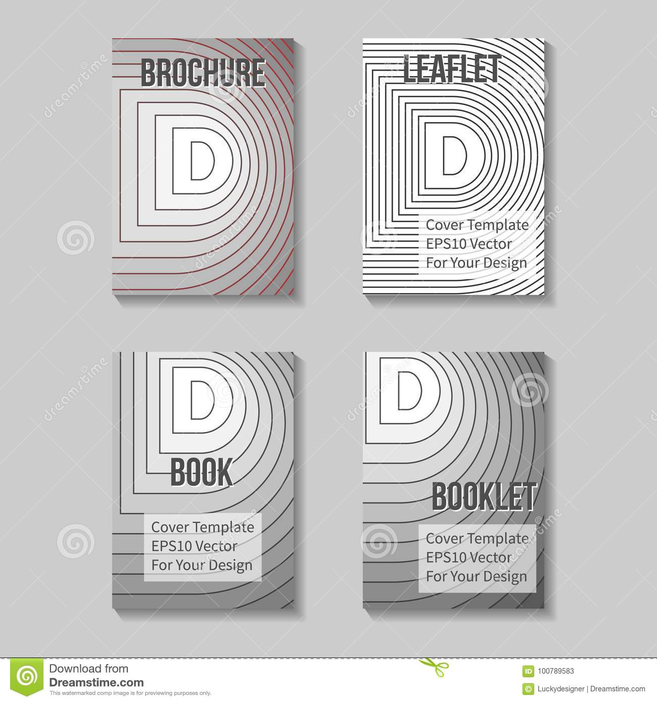 Book Title Page Template. Business Report Cover Stock