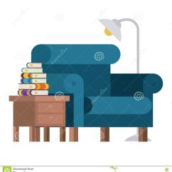 Chair Design Research Foldable Floor India Books Table And Lamp Stock Vector Illustration Of