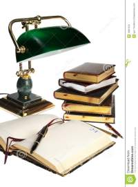 Books And Lamp Stock Photography - Image: 10837672