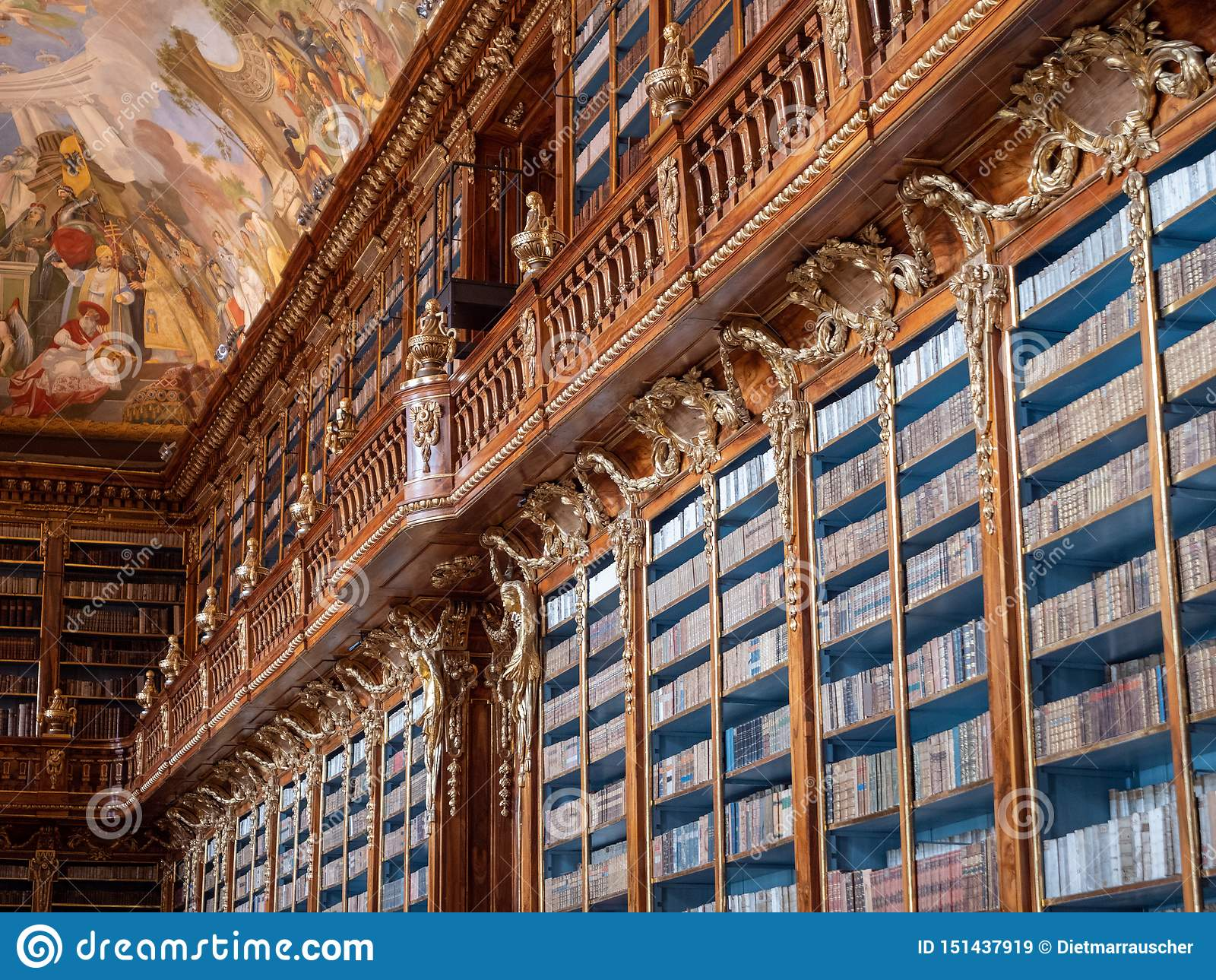 Bookshelf In Strahov Monastery Library - Philosophical Hall Editorial Stock Image - Image of philosophical. building: 151437919