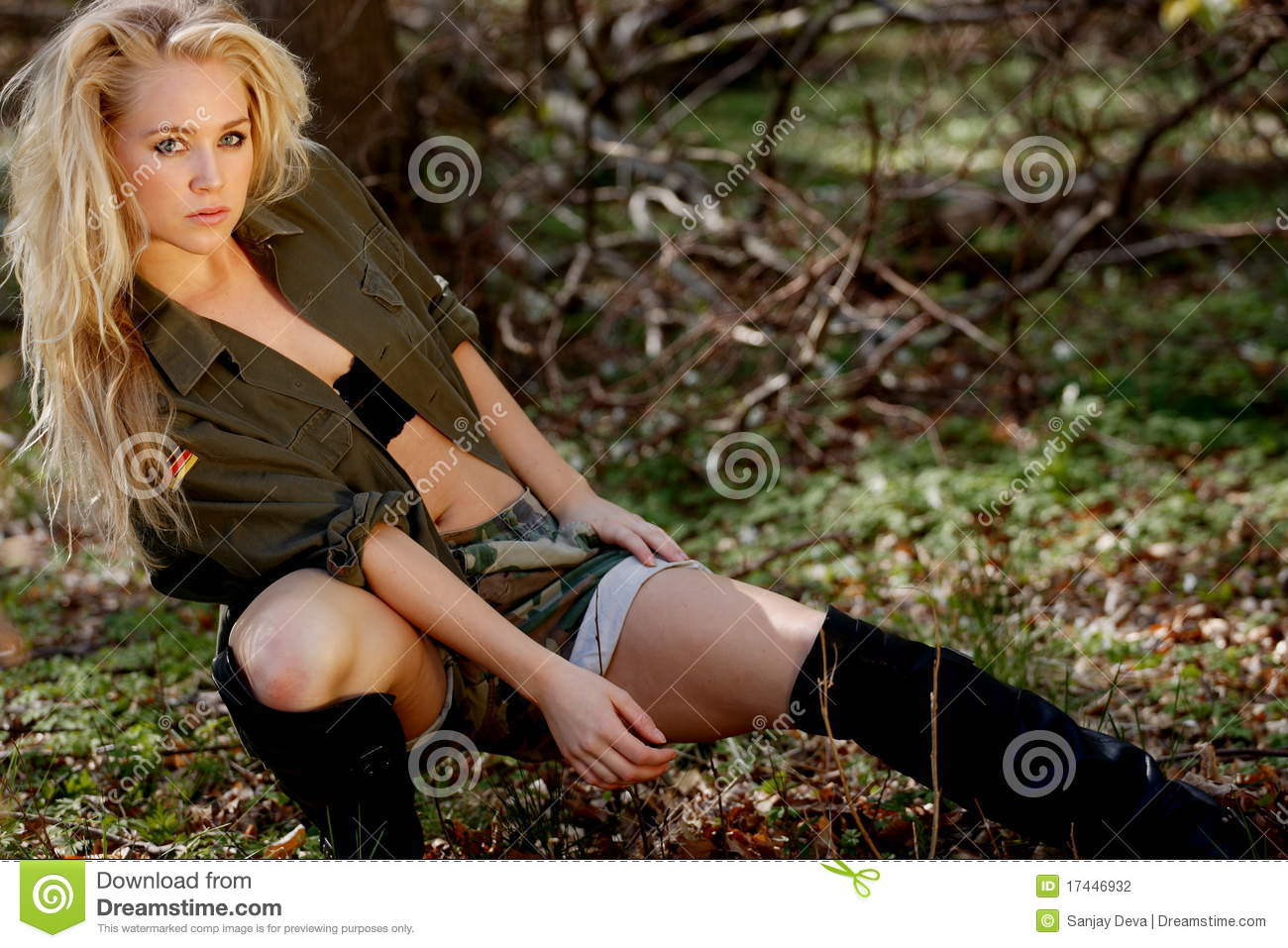 Bootcamp Girl Army Style Stock Photography  Image 17446932