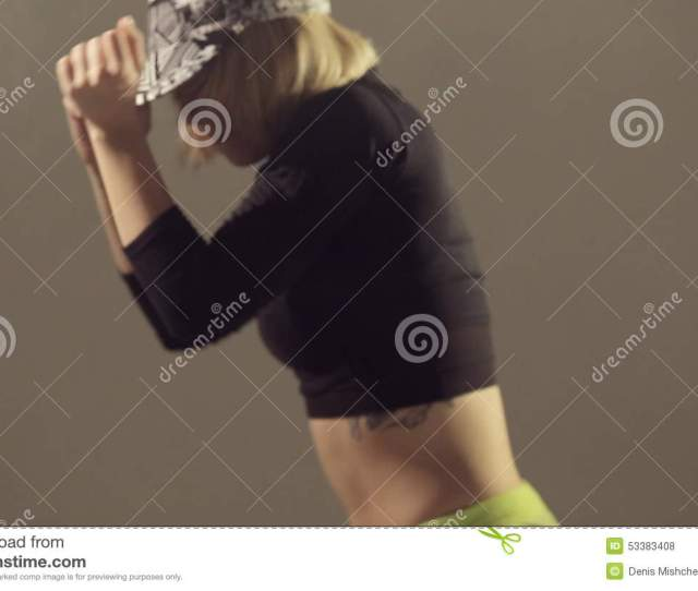 Booty Shake In The Professional Performance Of A Stock Footage Video Of Female Acrobat 53383408