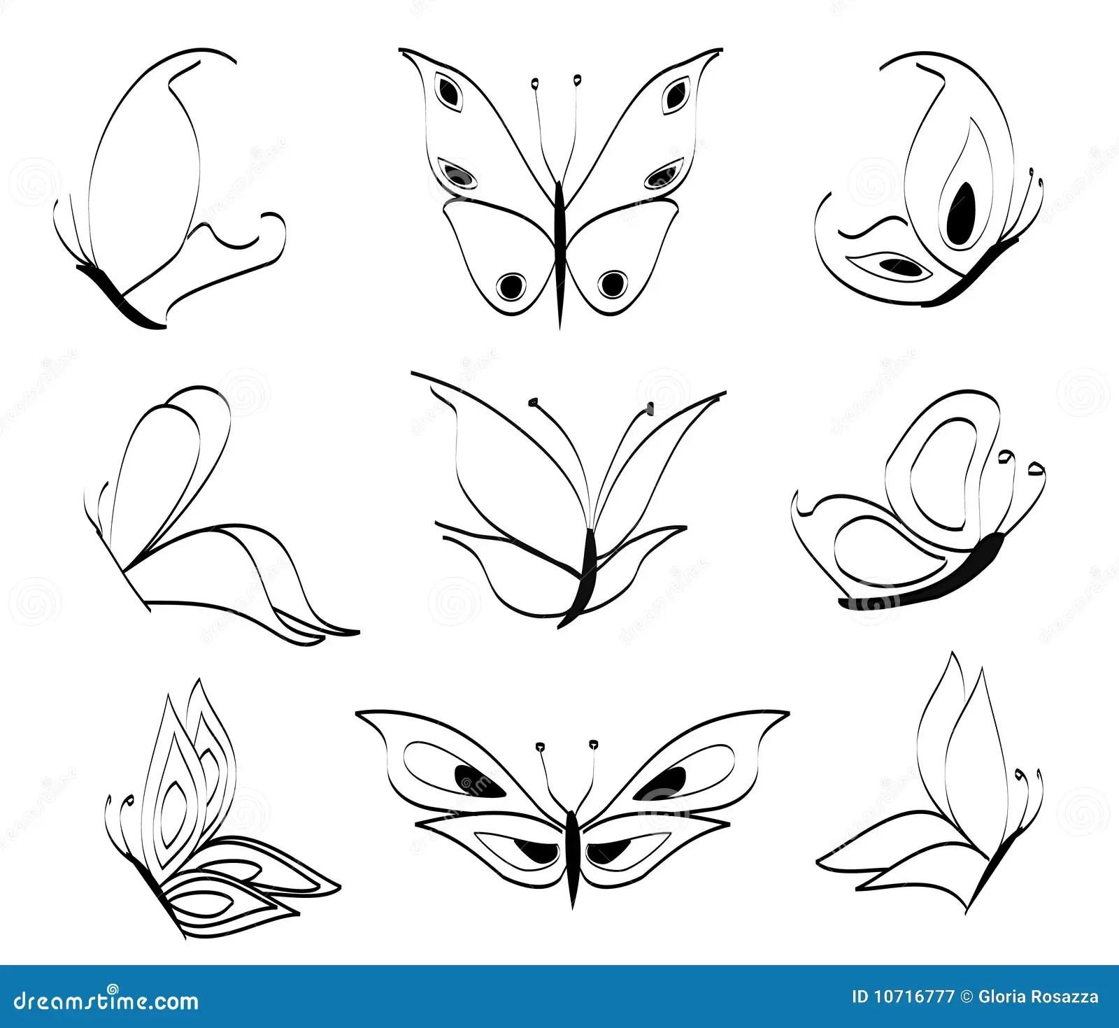Borboletas ilustração do vetor. Ilustração de ilustração