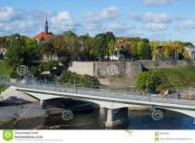 Border Bridge Estonia And Russia