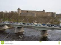 Border Crossing Bridge Russia And Estonia