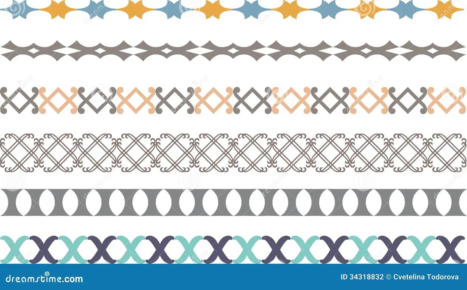 border decoration elements stock