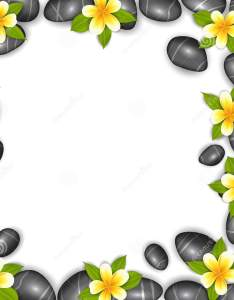 Border made in stones and tropical beautiful flowers also stock vector rh dreamstime