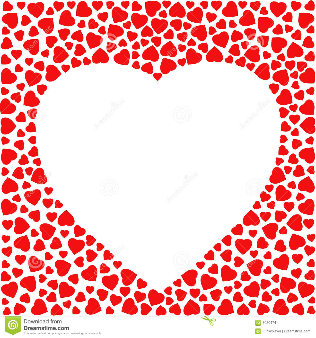 Vector Valentine Card With Heart Shapes Vector