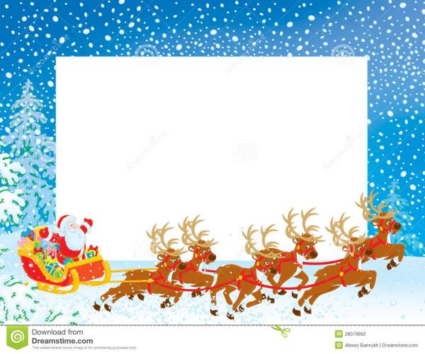 Christmas Border Clipart Landscape.25 Santa Claus Christmas Border Landscape Pictures And