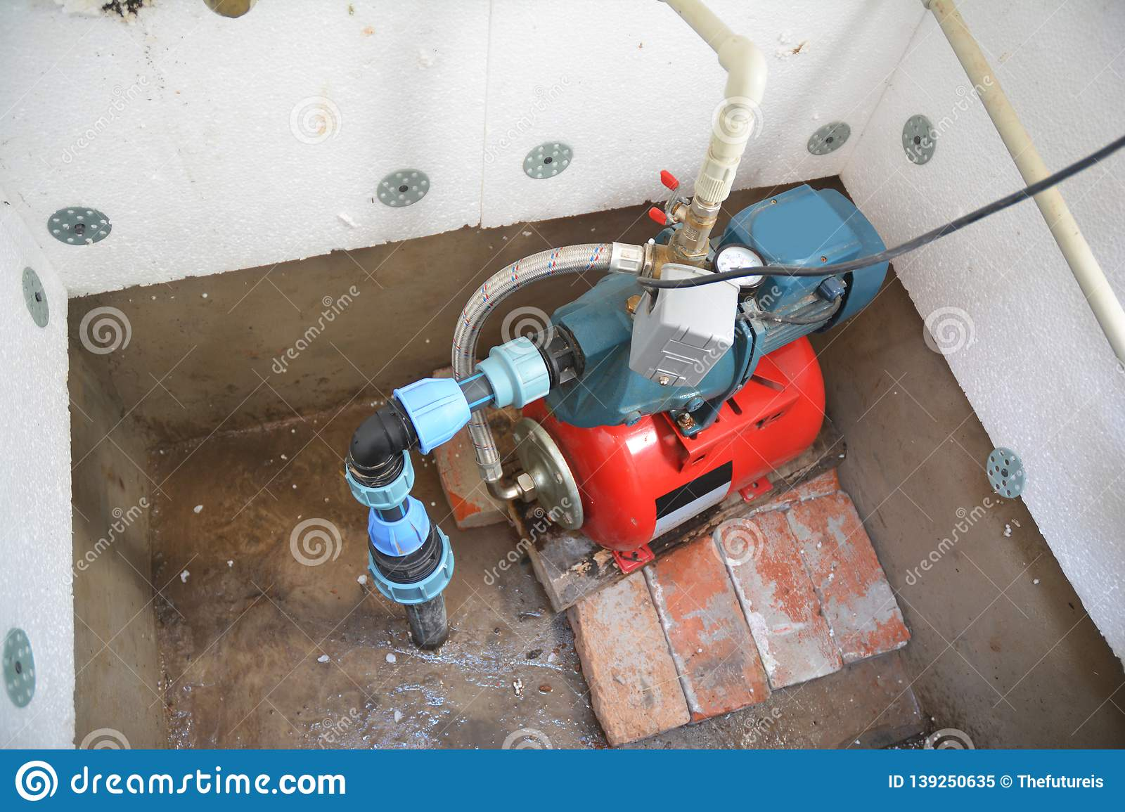 Borehole With Water Supply System Water Borehole