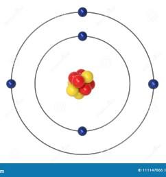 boron atom bohr model with proton neutron and electron [ 1300 x 957 Pixel ]