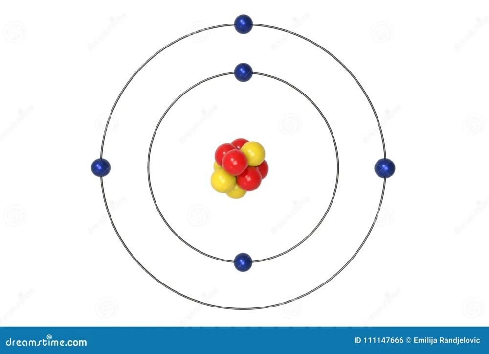 medium resolution of boron atom bohr model with proton neutron and electron