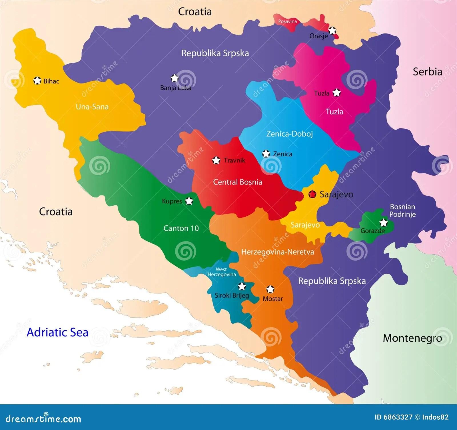 Bosnia Map Stock Illustrations 2 828 Bosnia Map Stock Illustrations Vectors Clipart Dreamstime