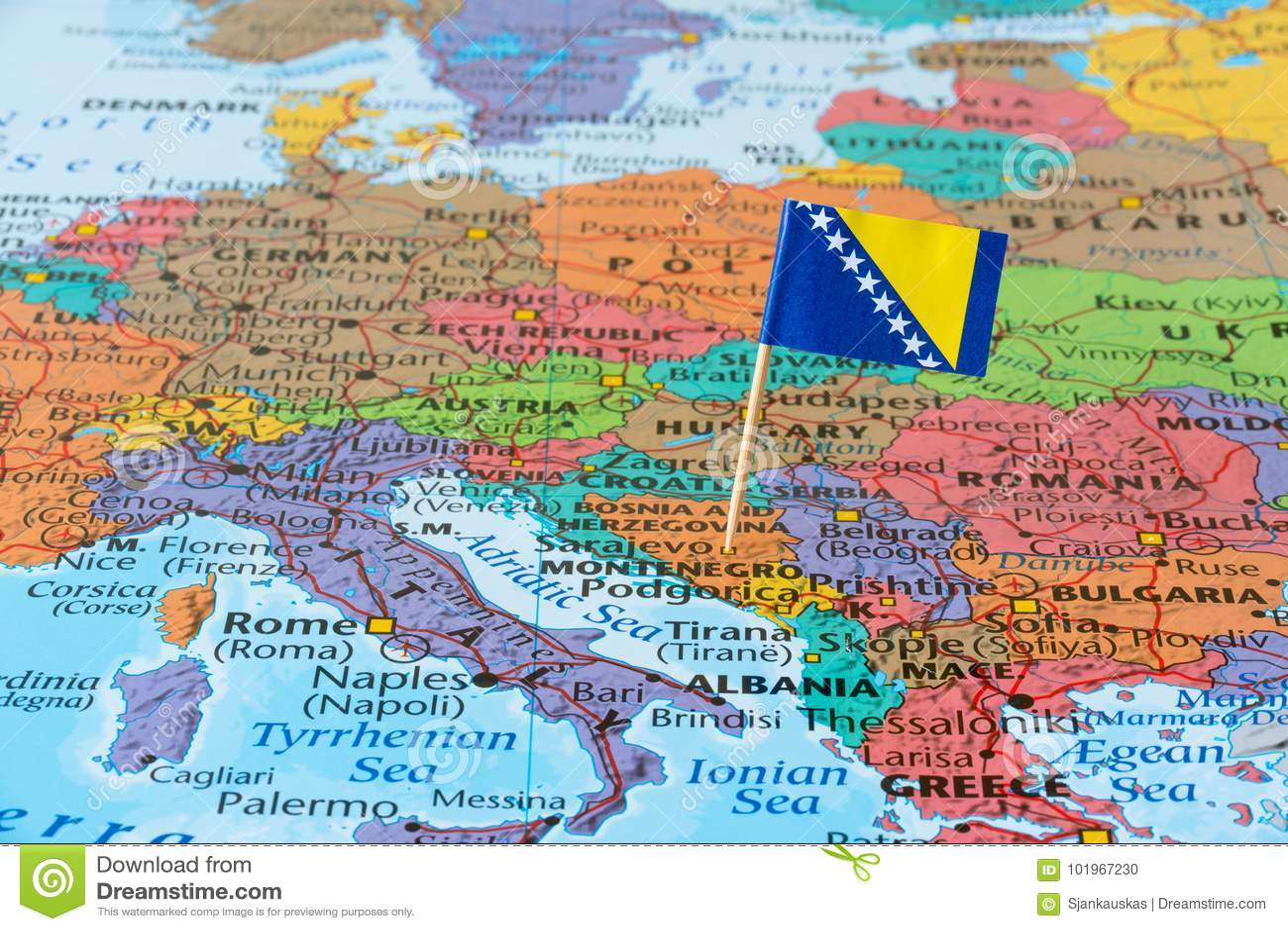 Bosnia And Herzegovina Map Stock Photo Image Of Detail 101967230
